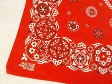MINT Vtg Antique RED FAST COLOR w CIRCLES Cotton Biker BANDANA Hanky RN 13960