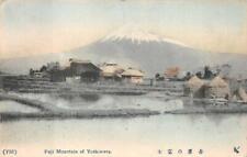 FUJI MOUNTAIN OF YOSHIWARA JAPAN POSTCARD (c. 1910)