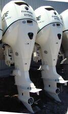 """Pair of 2006 BRP Evinrude 250 HP E-TEC Etec 2-Stroke 30"""" Outboard Motors"""