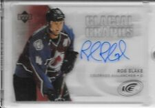 05-06 UPPER DECK ICE GLACIAL GRAPHS AUTOGRAPH #GG-RB ROB BLAKE AUTO AVALANCHE
