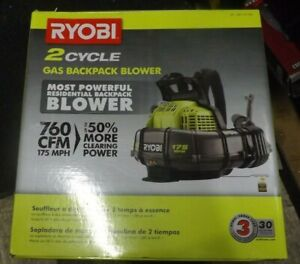 Ryobi RY38BPVNM 175 MPH 760 CFM 38cc 2 Cycle Gas Backpack Blower BRAND NEW