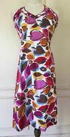 BODEN  Women's Halter Dress Sun Dress - Multicolor Leaf Print- Size US 4R/ UK 8R