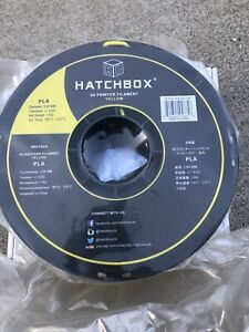 HATCHBOX PLA 3D Printer Filament 1 kg Spool, 3.00 mm, Yellow