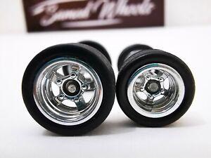 USA STOCK Samed Wheels 10 set pack 5 bolt CHROME 10-12mm for 1:64 model cars #32