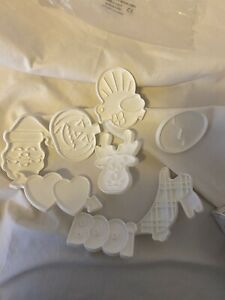 Set of 8 TUPPERWARE Cookie Cutters White~Halloween, Christmas, Easter