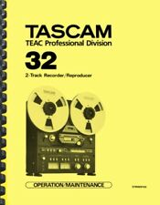 Tascam 32 Tape Recorder OWNER'S MANUAL and SERVICE MANUAL
