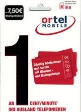 AKTIV Ortel Mobile Prepaid SIM Karte Aktiviert Registriert + 10? Guthaben