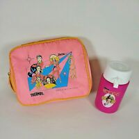 Vintage 1987 Barbie and the Rockers Pink Soft Lunch Box w/Thermos *Read*