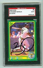 Bobby BO Bonilla Autographed 1990 Score Baseball Card #170 Pirates SGC Slabbed