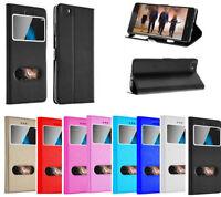Housse Etui Coque Pochette Fenetre View Case Intérieur Silicone Huawei P10 Lite