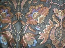 """BROWN GOLD WYNGUARD COTTON SATIN CURTAIN FABRIC NEW 66""""X 54"""" MATERIAL"""