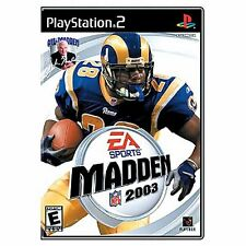 SONY PlayStation 2 PS2 Madden NFL 2003 03 (COMPLETE)