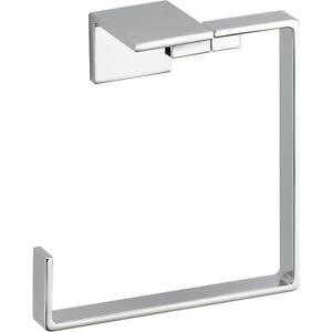 DELTA Vero Towel Ring, Chrome, Bathroom Accessories, 77746 Polished Chrome, 2...