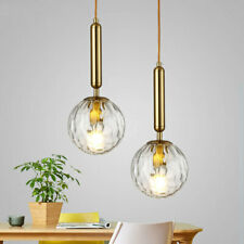 Clear Glass Brass Pendant Ceiling Light Living Room Kitchen Hanging Lamp Fixture