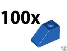 BLUE Lot of 100x Genuine LEGO Slope 45° 2x1 Slopes Roofing Slope Bricks - USED