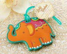 Lucky Elephant Luggage Tag Wedding Party Favor Reception Gift Honeymoon Travel