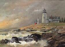 Pemaquid Lighthouse, Maine - Artistic greeting card by Jean McLean - 5 x 7