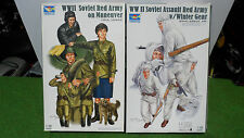 lot 2 MAQUETTE WWII SOVIET RED ARMY MANEUVER & WINTER GEAR echell 1/35 TRUMPETER