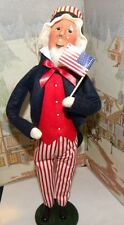 Byers Choice Caroler Exclusive Uncle Sam with Us Flag 4th of July 2014 *