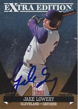 Jake Lowery Cleveland Indians 2011 Donruss Elite Signed Card