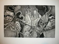 Georges Dayez gravure originale signée numérotée cubisme art cubiste