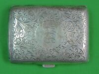 Antique Imperial Russian Russia German British Sterling Silver Cigarette Case