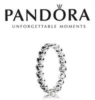 Pandora Silver Linked Love Ring