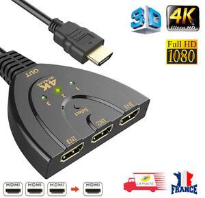 Hdmi Répartiteur 3 ports 4K * 2K 3D Switch Splitter Hub de Commutateur HDMI