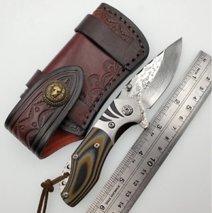 Folding KNIFE VG10 Damascus Outdoor Knives Survival Hunting Tactical EDC Tools