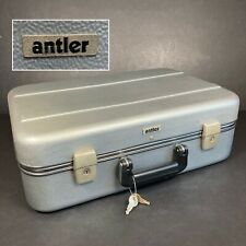 Antler Vintage Hard Briefcase Grey Travel Business Prop Safe Storage 2 Keys