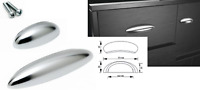 Polished Brushed Chrome Pull Handles Kitchen Cabinet Cupboard Drawer Door