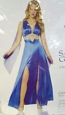 Sapphire Blue Greek Goddess  Womens Franco Costume Medium 8 - 10 New