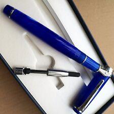 Updated DELIKE NEW MOON Blue fountain pen Delike EF bent NIb Screw Cap