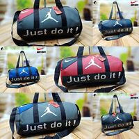 Nike Just Do It Unisex Gym Sports Bag Shoulder bag Duffel Mens Womens Heavy duty