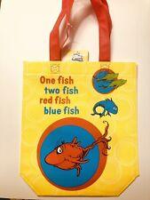 "Dr. Seuss Vinyl Shopper Tote Bag 12"" tall One Fish Two Fish Red Fish Blue Fish"