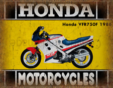 Honda VFR750F 1986 MOTORCYCLE METAL TIN SIGN POSTER WALL PLAQUE