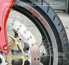 8x Yamaha Racing Premium Moto Rueda Llanta Calcomanías Stickers 600 1000 R1 R6 Yzf