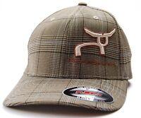 Ropesmart Brown Plaid Logo Flex Fit Cap Hat  S/M & L/XL