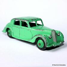Dinky Toys Riley Saloon Touring Car #40A -Meccano- 1950s Green Hubs