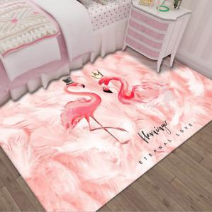 Tropical Flamingo Couples Pink Modern Carpet Girl Room Decor Rugs Floor Mat Gift