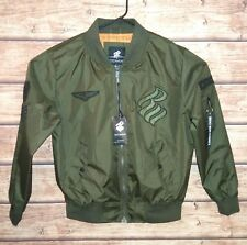ROCAWEAR Zip Up Bomber Jacket Lined Olive Green Men's Size Small Retail $88