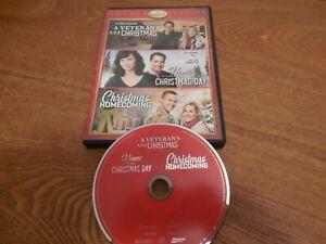 Hallmark Channel Triple Feature: A Veteran's Christmas, 3 Movie DVD .NEAR NEW