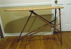 Vintage Antique Folding Wooden Ironing Board