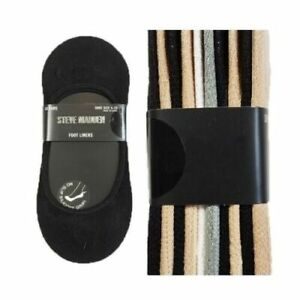 Steve Madden Women No show Foot Liners 10 Pairs 5-10 Footies NEW FAST SHIPPING