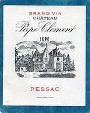 PESSAC GCC VIEILLE LITHOGRAPHIE CHATEAU PAPE CLEMENT 1890 RARE      §01/12§