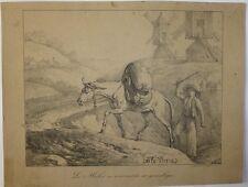 Lithographie de C. Vernet, La Fontaine, Le mulet se vantant de [...]
