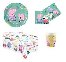 Coordinato Piatti Bicchieri Tovaglioli Tovaglia Party Peppa Pig Compleanno