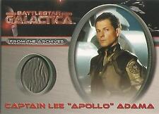 "Battlestar Galactica Premiere - CC5 ""Captain Lee 'Apollo' Adama"" Costume Card"