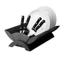 Plastic Folding Cutlery Plate Dish Drainer Drying Sink Tidy Kitchen Rack Black