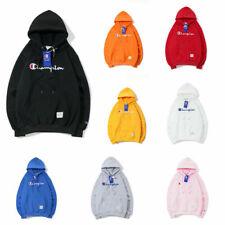 Men's and women's plus fleece hooded champion embroidered sweatshirt jacket 2020